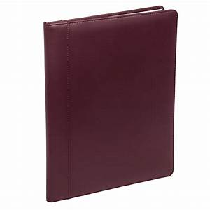 buxton new burgundy genuine leather letter pad notebook With leather letter pad