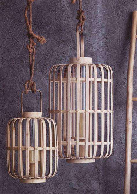 junzi bent bamboo lantern lights novacom