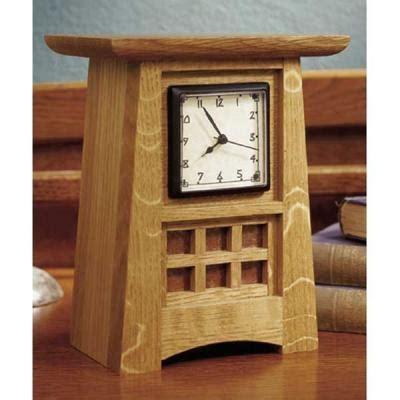arts  crafts shelf clock paper plan woodworking