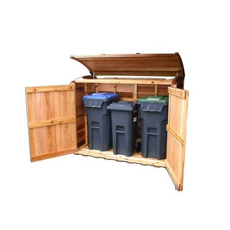 outdoor garbage storage outdoor living today 6 ft x 3 ft oscar waste management 1292