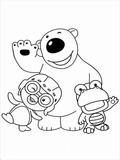 Coloring Pages Penguin Pororo Printable Cartoon Recommended