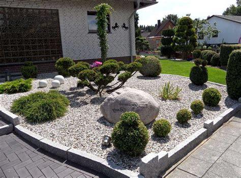 Ideen Für Gartengestaltung Mit Steinen by Gestaltung Vorgarten Mit Steine Stein Gartengestaltung