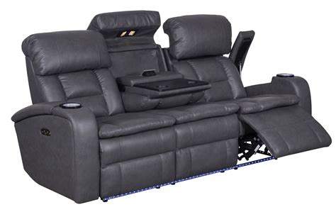 reclining sofa with drop down table zenith power reclining sofa with drop down table at