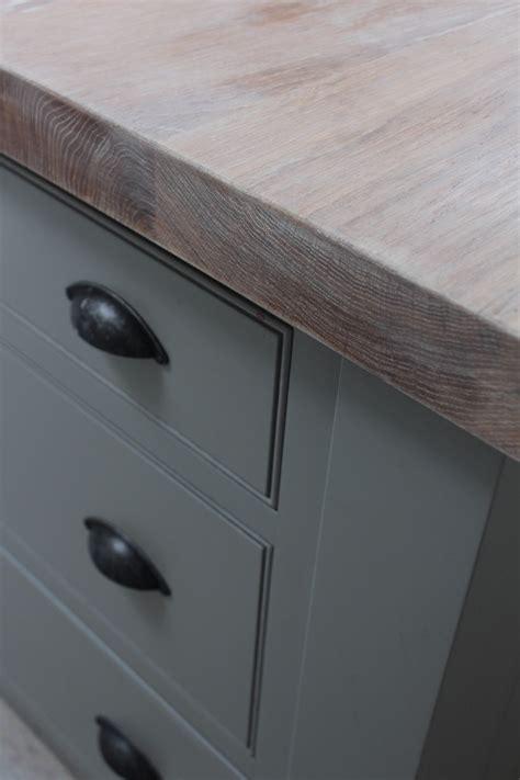 solid oak wood worktops finished  liming wax