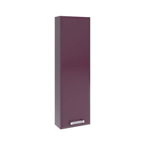 meuble haut l 30 x h 100 x p 15 cm violet opale leroy