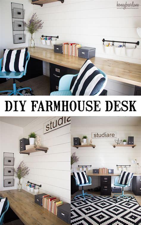 diy industrial farmhouse desk honeybear lane