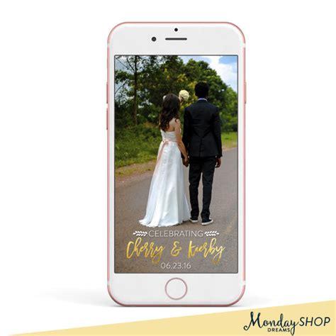 wedding snapchat filter snapchat geofilter custom snapchat geofilter wedding geofilter snapchat filter gold foil