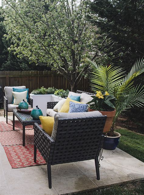home depot patio makeover reveal in honor of design