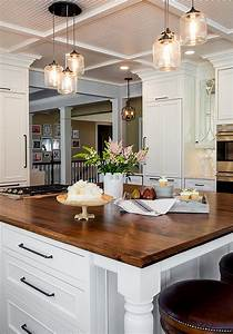 Pendant lighting ideas for kitchen : Large kitchen cabinet layout ideas home bunch interior