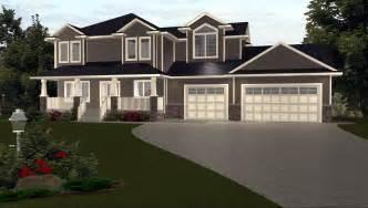 kitchen island width 3 car garage house plans by edesignsplans ca 1