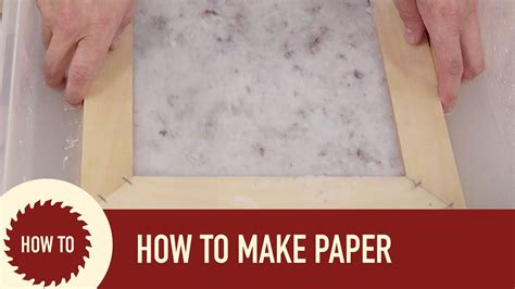 How To Make Paper (out Of Recycled Paper) Youtube