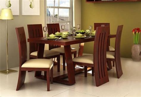 Enthralling 6 Seater Dining Table Online Six Set India Of