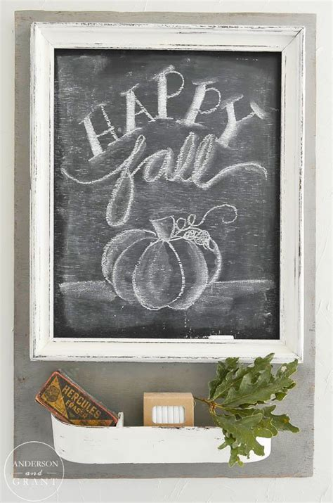 Home Design Ideas Blackboard by Rustic And Neutral Fall Home Chalkboard Paint Fall