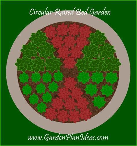garden plans  ideas  circular raised bed garden plan
