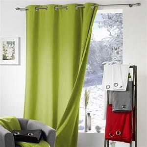 Thé Vert Froid : rideau anti froid 140 x h240 cm polar vert rideau isolant eminza ~ Melissatoandfro.com Idées de Décoration