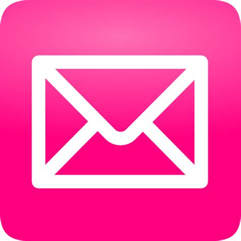 email clipart pink email button clip at clker vector clip
