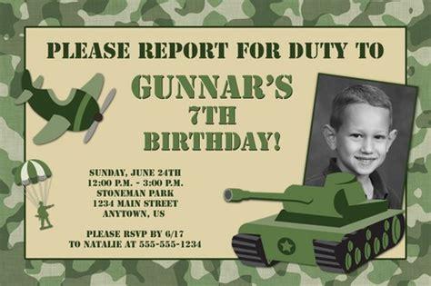 army birthday invitations ideas  printable birthday