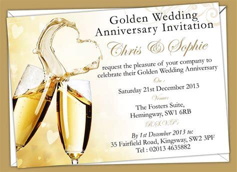 golden wedding invitations templates