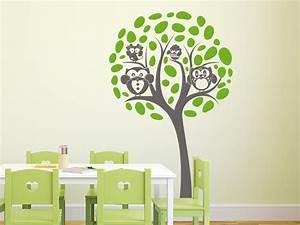 Wandtattoo Baum Kinder : wandtattoo eulenfamilie im baum 2 farbig ~ Whattoseeinmadrid.com Haus und Dekorationen
