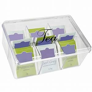 Boite A Compartiment : boite th 6 compartiments en plastique pour rangement sachets de th ~ Teatrodelosmanantiales.com Idées de Décoration