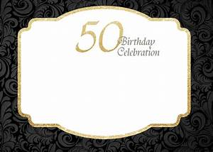 free printable 50th birthday invitations template drevio With template for 50th birthday invitations free printable