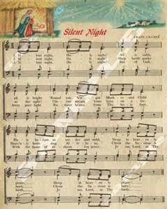 Vintage Christmas Sheet Music Silent Night