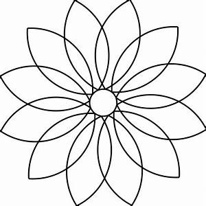 25 images of 12 petal flower template leseriailcom With 12 petal flower template