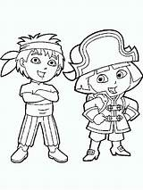 Go Diego Coloring Pages Printable Cartoon Cartoons Colors sketch template