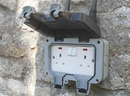 exterior light socket outlet installing an outdoor socket or exterior power point diy
