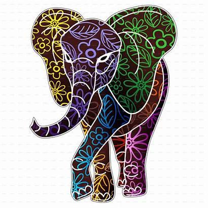 Batik Elephant Floral Vector Animals Indian Graphicriver