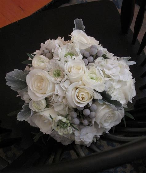 Gray White And Silver Wedding Bouquet Silver Wedding