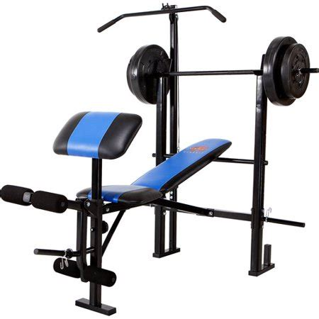 Marcy Classic Mcb252 Combo Bench With 120 Lb Weight Set