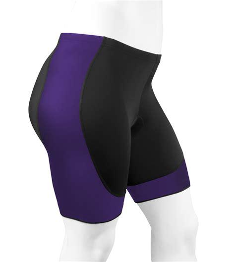 Womens Full Figure Hourglass Padded Bike Shorts