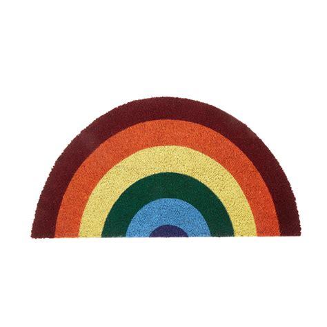 Rainbow Doormat by Rainbow Coconut Doormat Coincasa