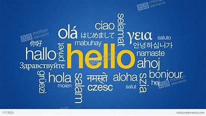 Languages Different Hello Animation Symbols Particles Vfx
