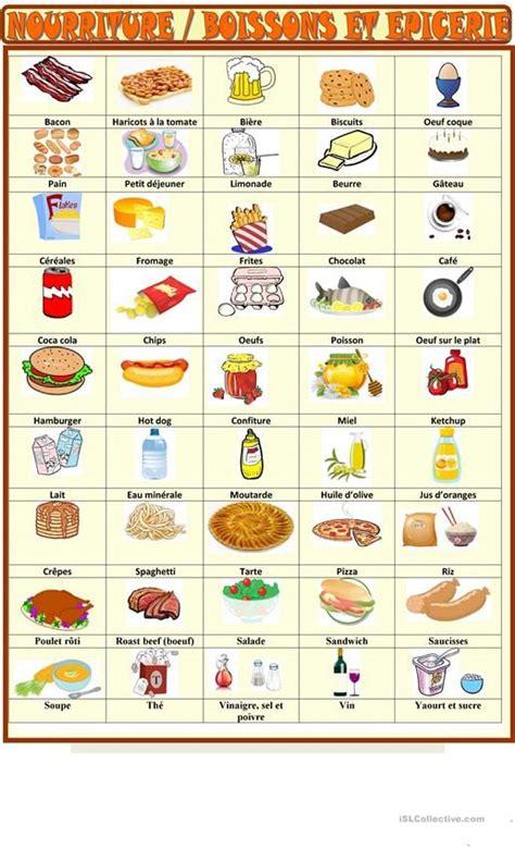 vocabulaire cuisine allemand les 287 meilleures images du tableau fle la nourriture