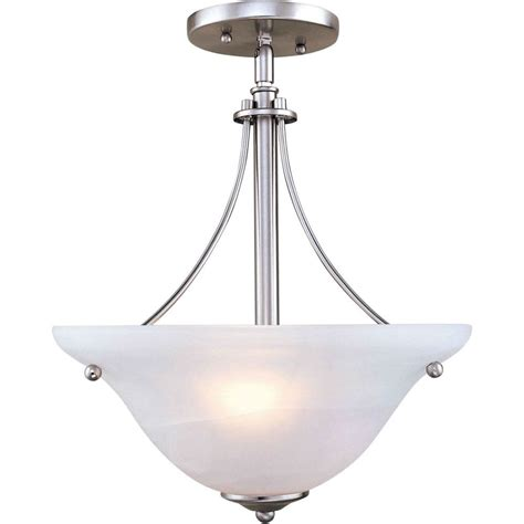nickel semi flush ceiling lights filament design burton 2 light ceiling brushed nickel semi
