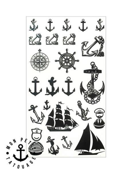 Signification Dessin Bateau by Tatouage Ancre Marine Temporaire 201 Ph 233 M 232 Re Bateau Rose