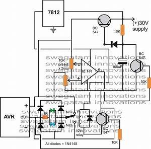 automatic voltage regulator avr analyzer circuit With an electrical circuit also requires a power source battery generator