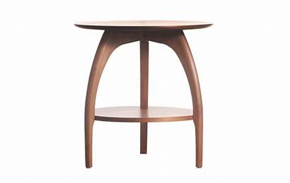 Table End Round Transparent Tibro Wood