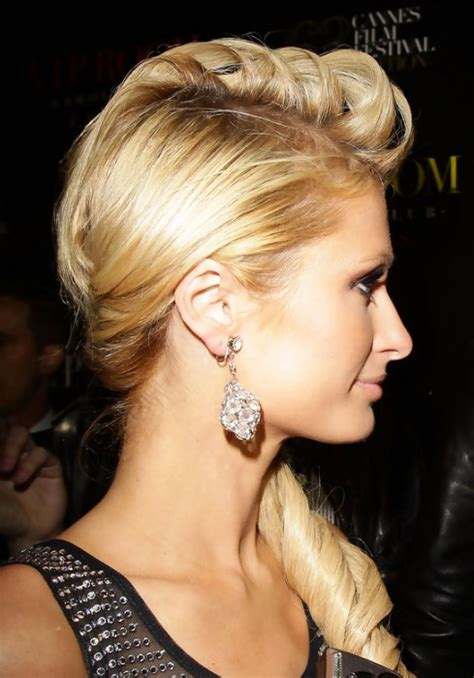 paris hilton loose side ponytail hairstyle hairstyles weekly