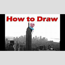How To Draw The Empire State Building Step By Step  New York Skyline  Atmospheric Perspective
