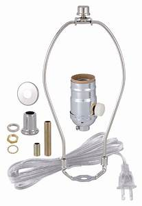 Nickel Table Lamp Wiring Kit With Full