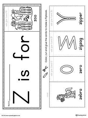 letter z beginning sound flipbook printable alphabet worksheets preschool letter crafts