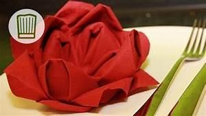 Rose Aus Serviette Drehen : servietten falten die rose tischdeko zum valentinstag video faltanleitung chefkoch youtube ~ Frokenaadalensverden.com Haus und Dekorationen