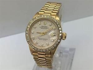 Rolex Datejust President 69178 Damenuhr 18 Kt Gold
