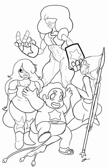 Steven Universe Pages Coloring Pearl Steve Sapphire