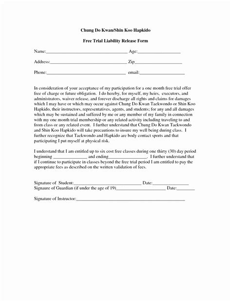 6 fitness waiver and release form template ueeur