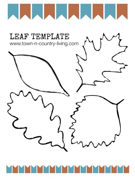 Fall Leaf Template Diy Fall Wreath And Free Leaf Printable Town Country
