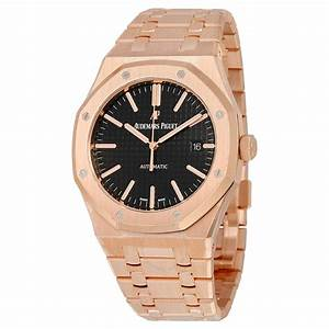Audemars Piguet Royal Oak Automatic Black Dial 18kt Rose ...